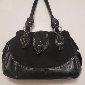 🌸 Tommy Hilfiger All Black Leather Handbag